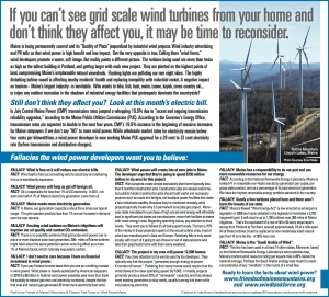 Half page ad printed today in Portland Free Press, by Friends of Maine Mountains and Citizens Action Task Force - Maine